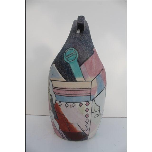 Kiln Art Cubist Handmade Vase - Image 4 of 8