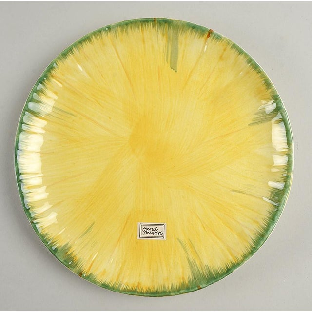 Ceramic Vintage Fitz and Floyd Yellow Onion Covered Dish & Underplate For Sale - Image 7 of 9