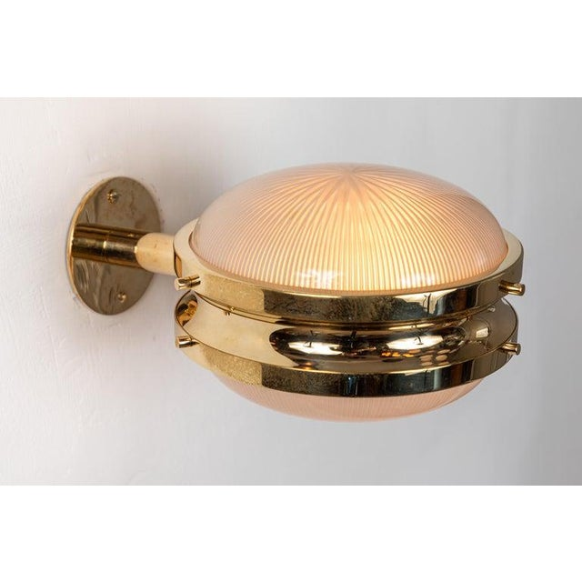 1960s 1960s Sergio Mazza Brass 'Gamma' Wall or Ceiling Lights for Artemide For Sale - Image 5 of 13