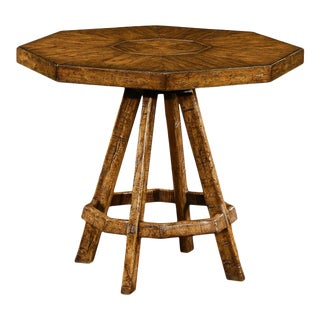 Rustic Style Country Style Octagonal Side Table