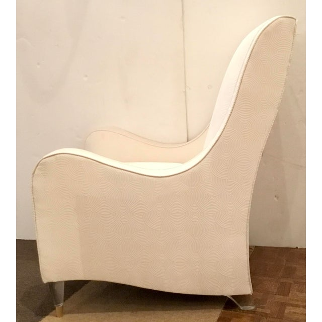 2010s Caracole Modern White Just Wing It Club Chair Prototype For Sale - Image 5 of 7