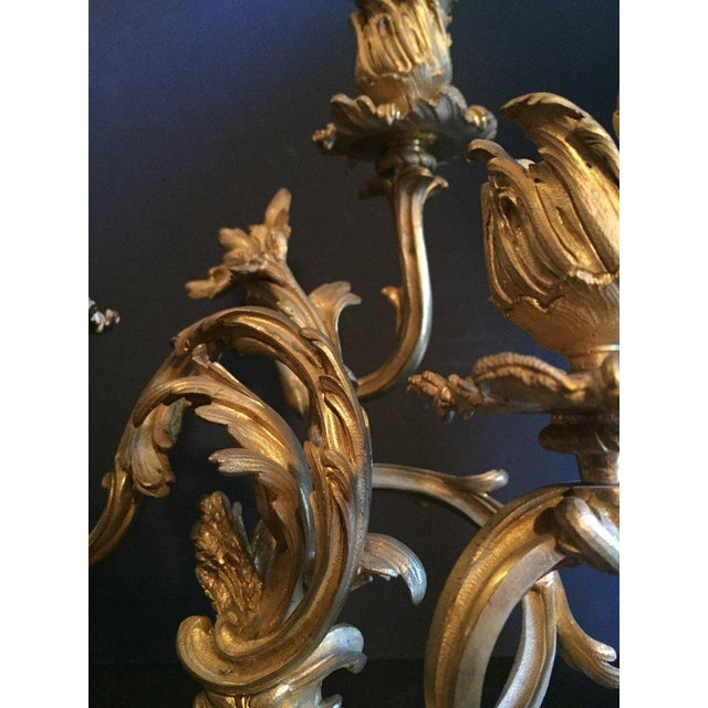 19th Century Ormolu Louis XV Style Candelabras - a Pair For Sale In New York - Image 6 of 12