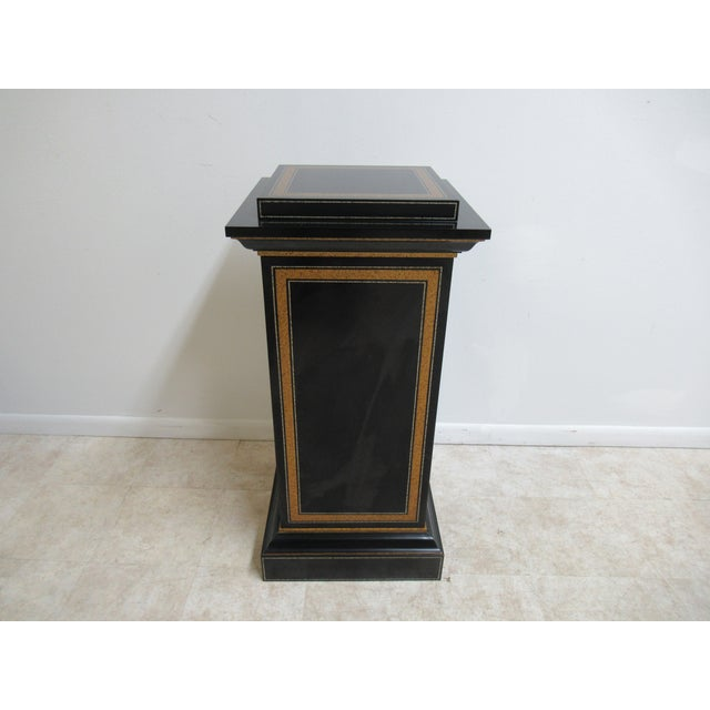 Modern Maitland Smith Black Ebonized Lamp End Table For Sale - Image 13 of 13