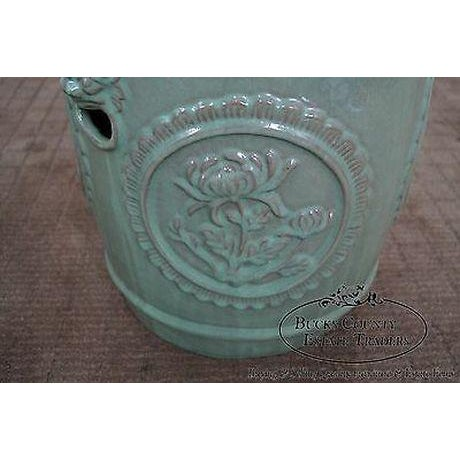 Vintage Chinese Celadon Garden Seat For Sale - Image 10 of 13