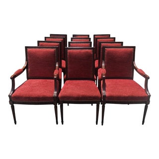 Set of 10 - Antique 18c Directoire Style Rosewood Dining Chairs For Sale