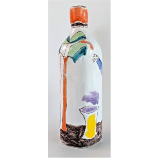 Italian Giovanni Desimone Hand Painted Pottery, Decanter, Vessel Preview