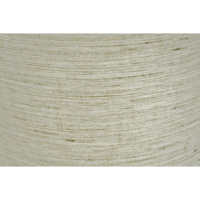 Fabric Vintage Linen Fabric Drum Lamp Shade For Sale - Image 7 of 11