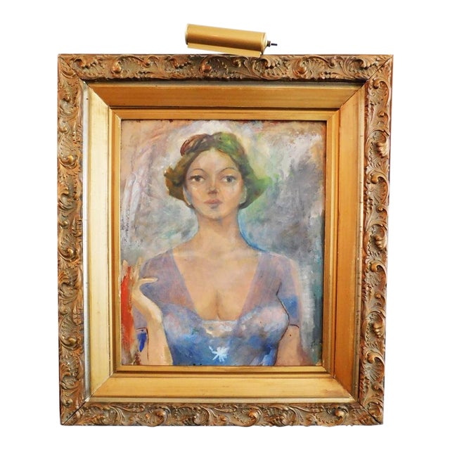 Woman in Gold Painting For Sale