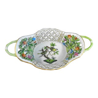 Herend Hand Painted Lattice Dish For Sale