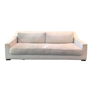Restoration Hardware Modena Slope Arm Fabric Sofa For Sale