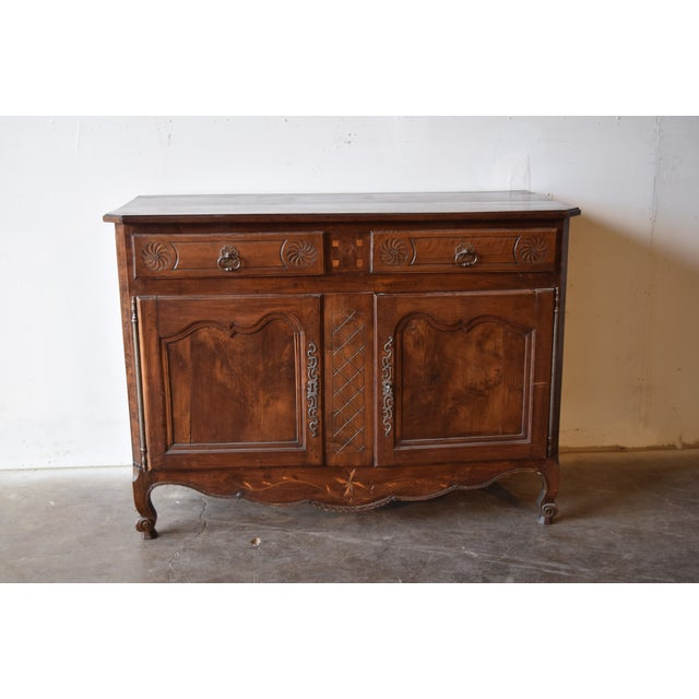 Late 18th Century Antique French Walnut Buffet For Sale - Image 9 of 12