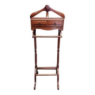 Vintage Mahogany Bedroom Valet For Sale