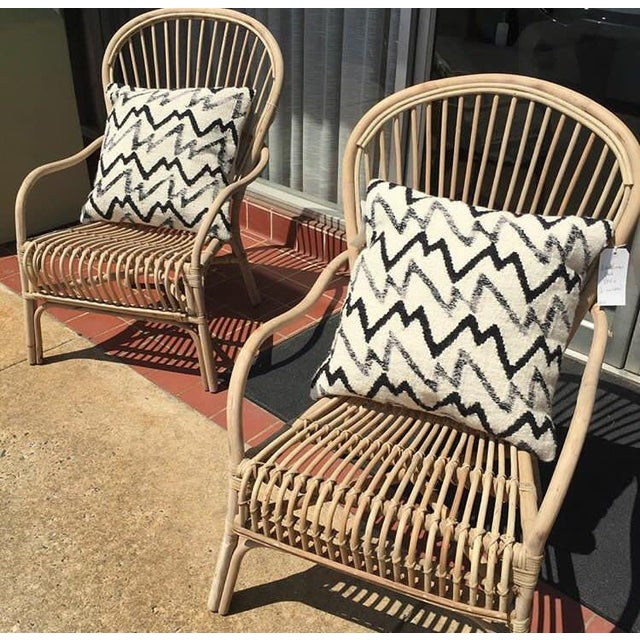 Indonesian Rattan Lounge Chair   Chairish
