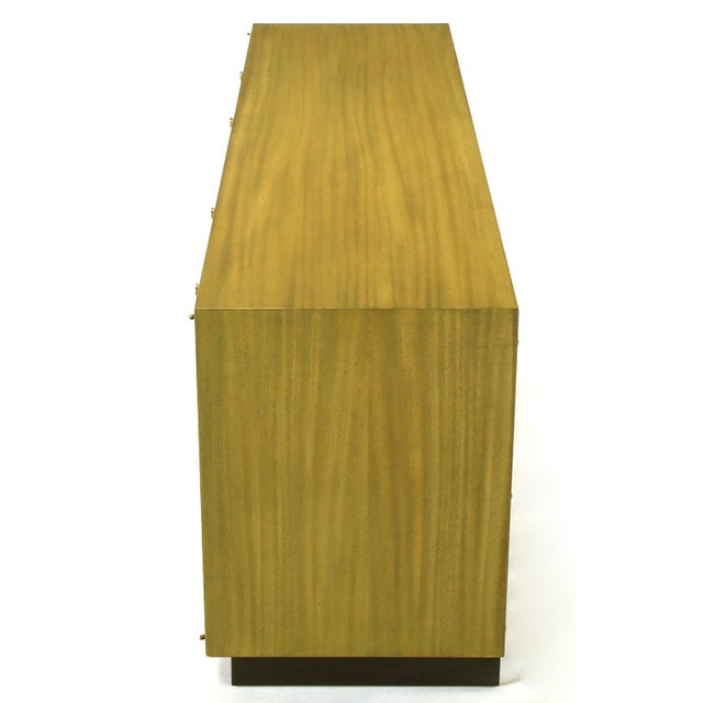 Harvey Probber Harvey Probber Bleached Ribbon Mahogany Long Cabinet For Sale - Image 4 of 9
