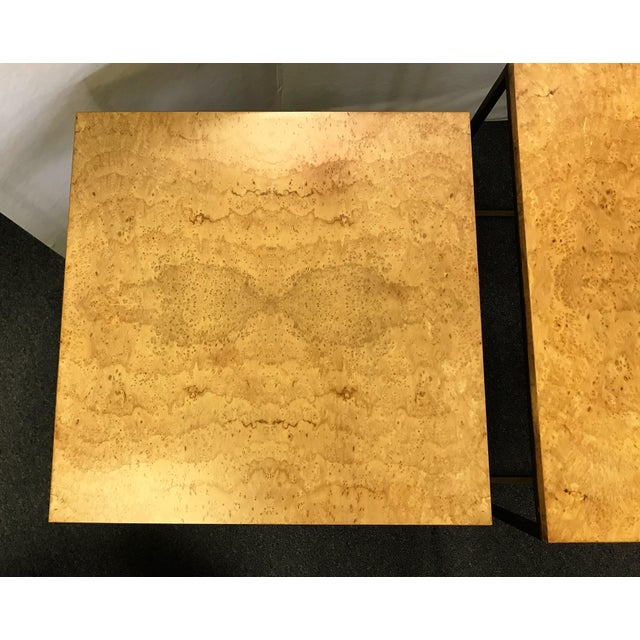 Keno Bros Burled Maple Nesting Tables - Set of 3 For Sale In West Palm - Image 6 of 13