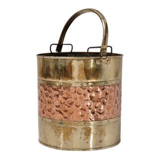 Antique 1900s Brass Bucket For Sale
