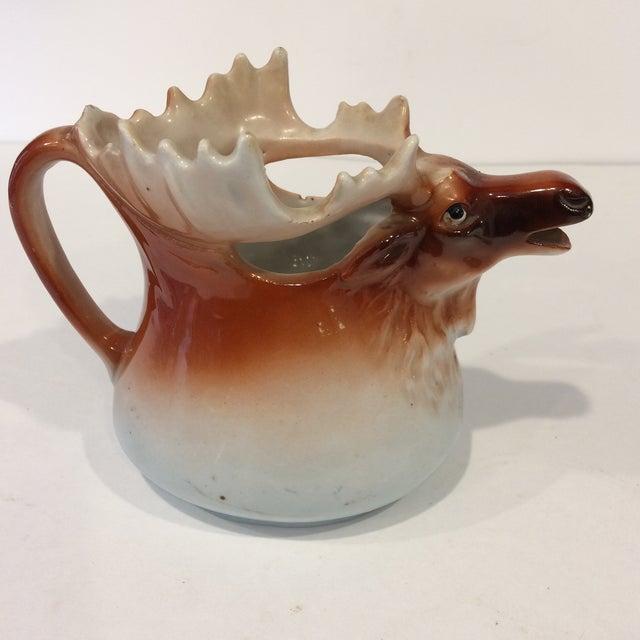 Vintage Porcelain Moose Creamer For Sale - Image 4 of 11