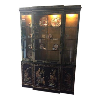 Drexel Oriental Style China Cabinet For Sale