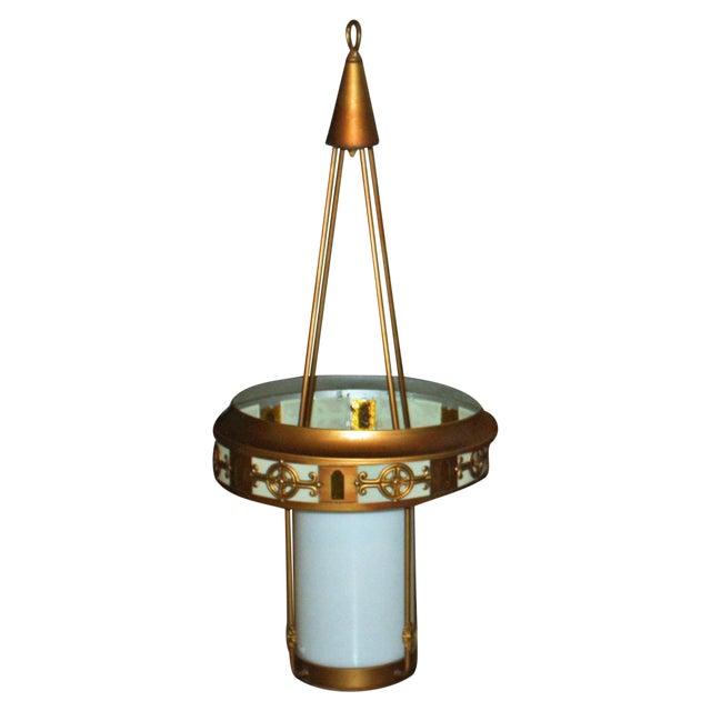 Art Deco Style Large Pendant Light - Image 1 of 9