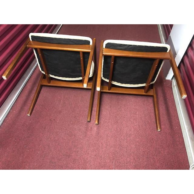 Wood Mid 20th Century Danish Mid-Century Modern Chairs - a Pair For Sale - Image 7 of 10