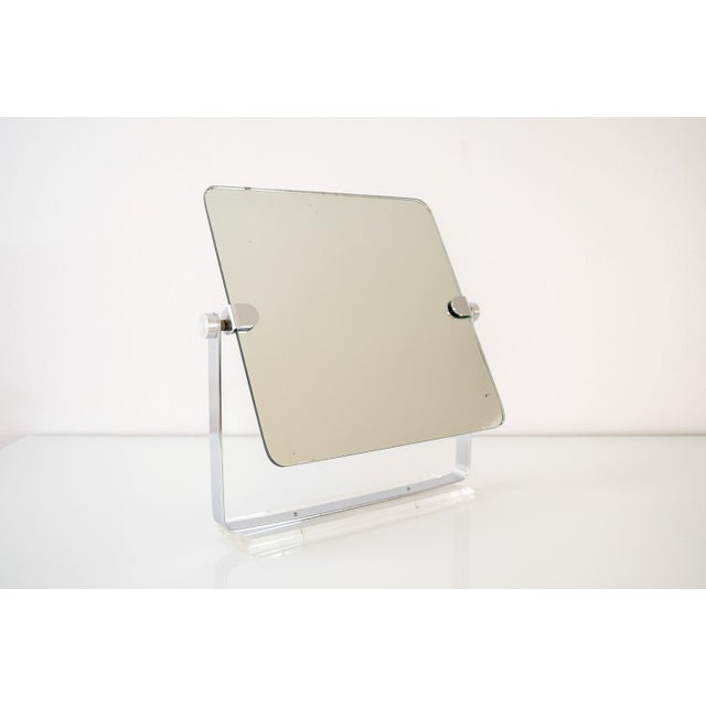 Mid-Century Modern Mid Century Chrome and Lucite Adjustable Tabletop Mirror For Sale - Image 3 of 10