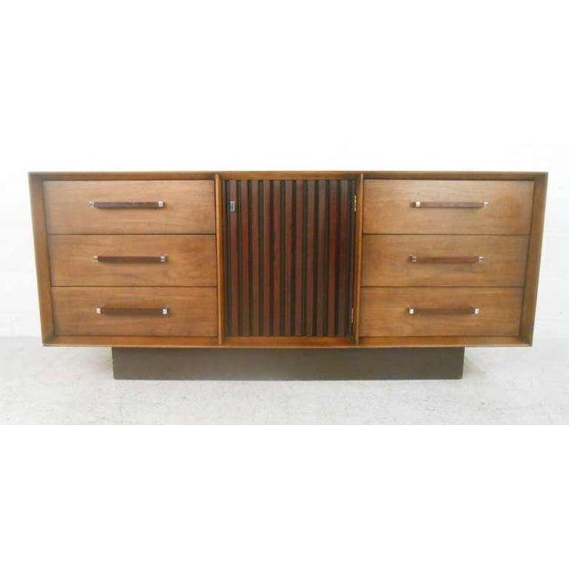 Mid-Century Modern American Walnut Dresser - Image 2 of 8