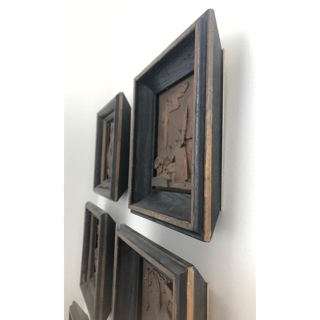 1940s Bronze Wpa Plaques - Set of 6 For Sale - Image 10 of 12