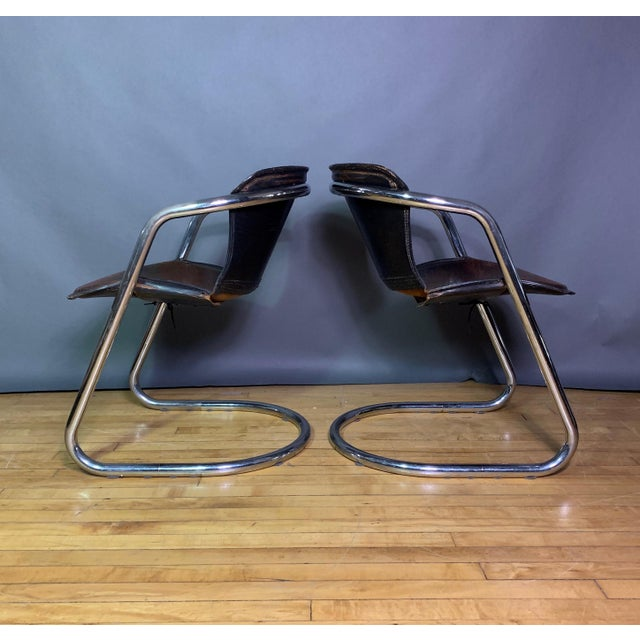 Cidue Vintage Willy Rizzo Dining Chairs for Cidue, Italy 1970s For Sale - Image 4 of 13