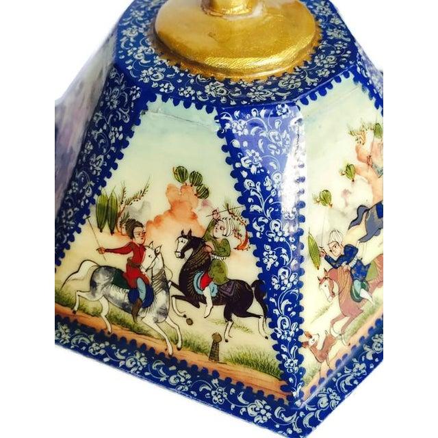 Vintage Persian Ornate Bone Trinket Box - Image 2 of 6