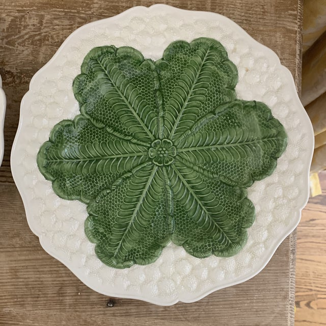 Italian Italian 1980s Majolica Cabbage Plates- a Pair For Sale - Image 3 of 9