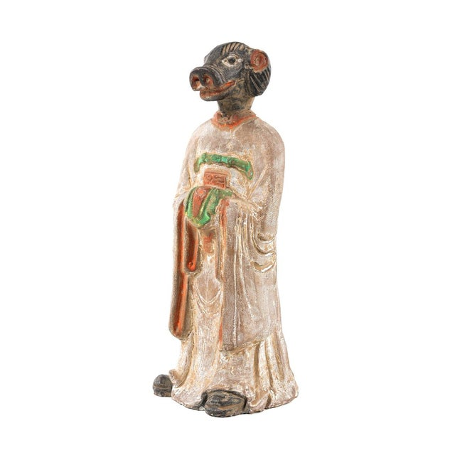 Antique Chinese Zodiac Pig Figurine - Image 2 of 9