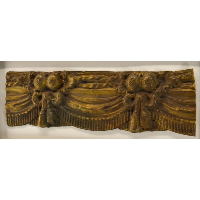 Art Nouveau French Valance, Repousse Framed For Sale - Image 3 of 4