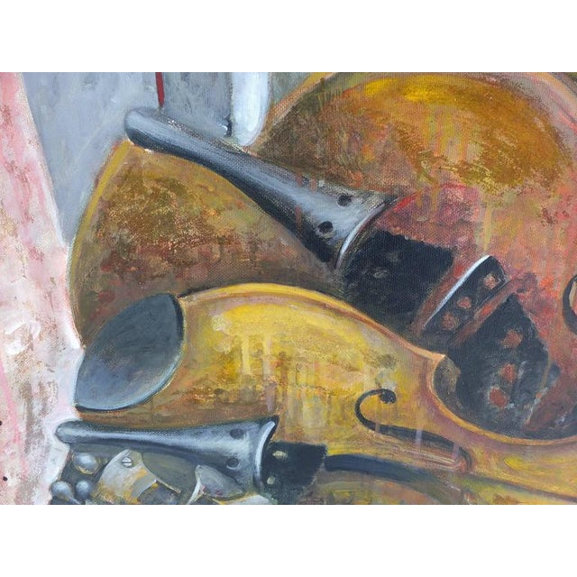 "Abstract ""Impetuous Violinist"", Oil on Canvas by Jesus Marcos For Sale - Image 3 of 11"