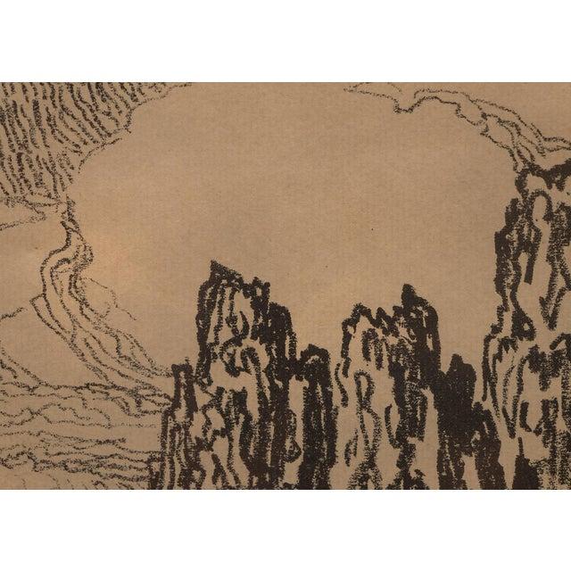"""1920s 1923 Birger Sandzen """"Pond With Poplars"""" Original Signed Framed Lithograph For Sale - Image 5 of 10"""