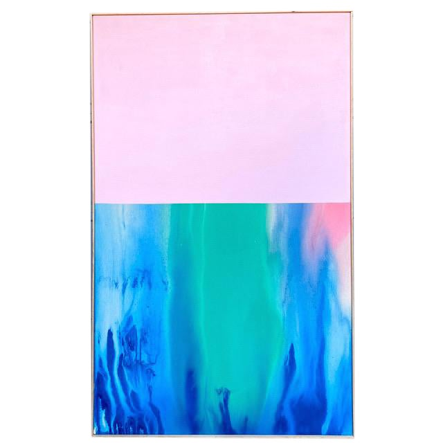 Contemporary Abstract Color Field Large Scale Original Painting by Artist Jonathan Marquis For Sale