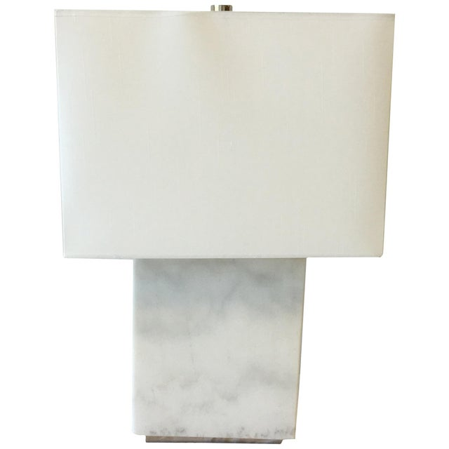Ralph Lauren Marble Lamp With Shade For Sale - Image 9 of 9