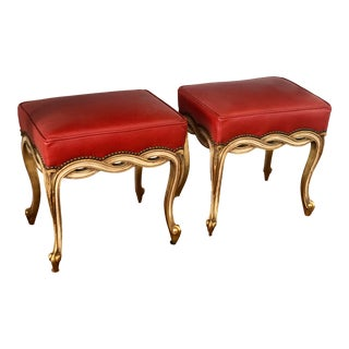 Regency Style Ribbon Taboret Bench by Randy Esada Designs for Prospr - a Pair For Sale