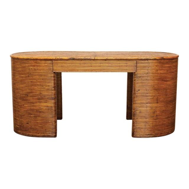 French Rattan Art Deco Desk For Sale