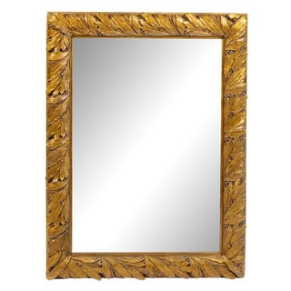 Late 19th Century Antique Continental Giltwood Mirror For Sale