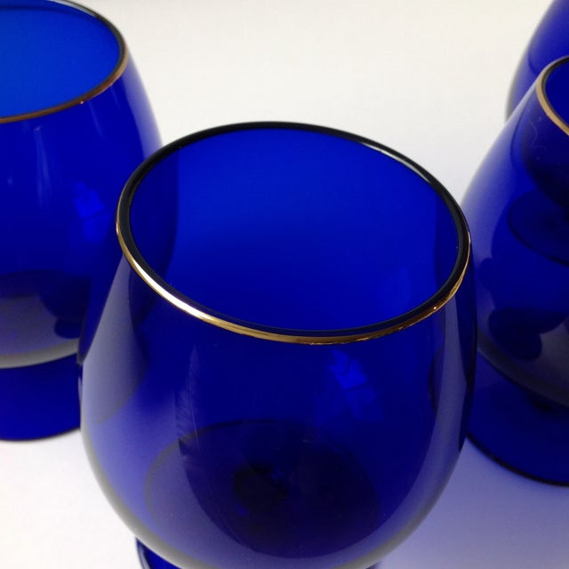 Contemporary Ralph Lauren Cobalt Blue Brandy Glasses - Set of 4 For Sale - Image 3 of 8