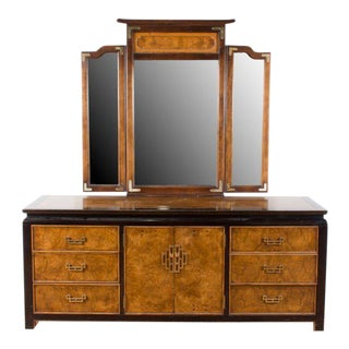 Century Furniture Asian Style Campaign Dresser with Mirror