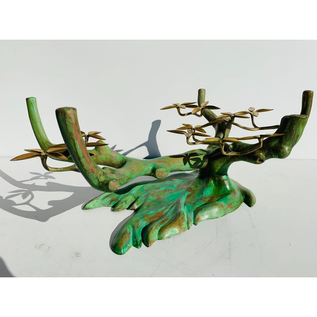 Willy Daro Brass Bonsai Tree Coffee Table Base For Sale In Los Angeles - Image 6 of 13