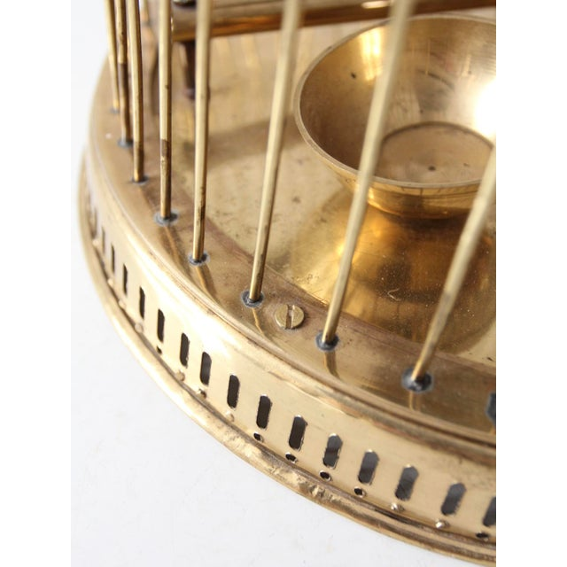Vintage Brass Bird Cage For Sale - Image 4 of 10