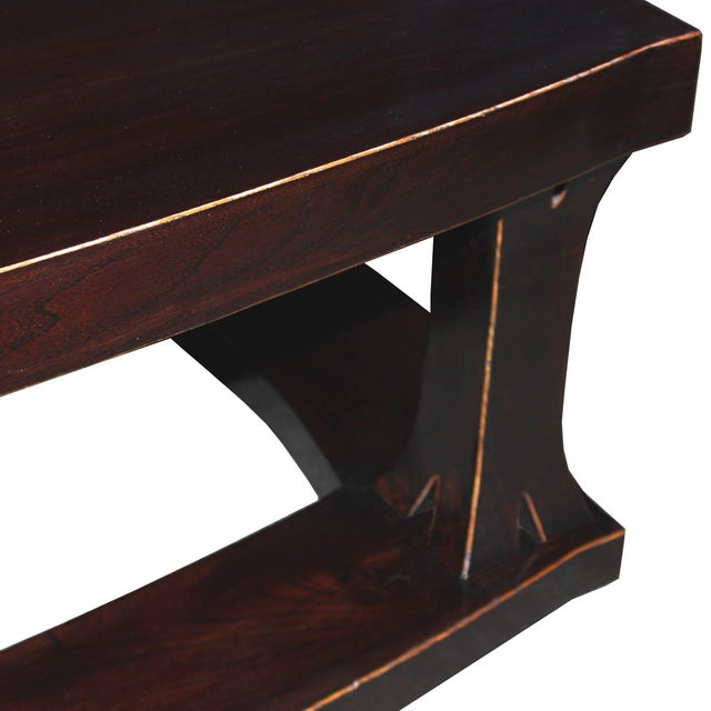 Contemporary Elm Wood Coffee Table For Sale - Image 3 of 4