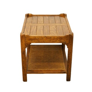 20th Century French Country Hekman Furniture Tiered End Table For Sale