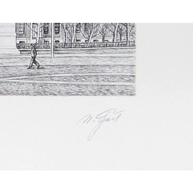 Artist: Walter Tjart, Russian/American (1935 - ) Title: New York: The Washington Arch Year: circa 1980 Medium: Etching,...