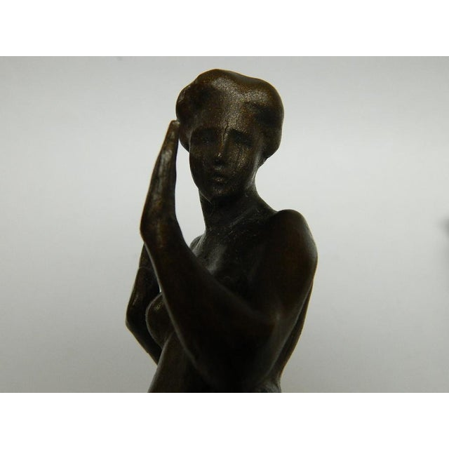 Metal Harriet Whitney Frishmuth Bronze Sculpture Female Figure Bookends - a Pair For Sale - Image 7 of 13