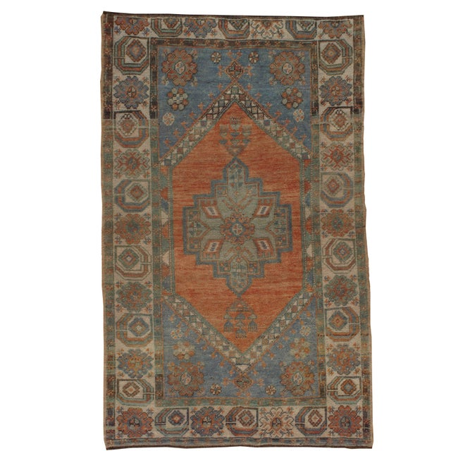 Textile Vintage Turkish Oushak Rug, 3'5 X 5'5 For Sale - Image 7 of 7
