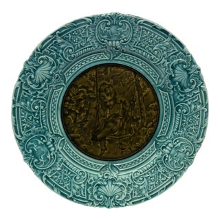 Antique Majolica Plate For Sale