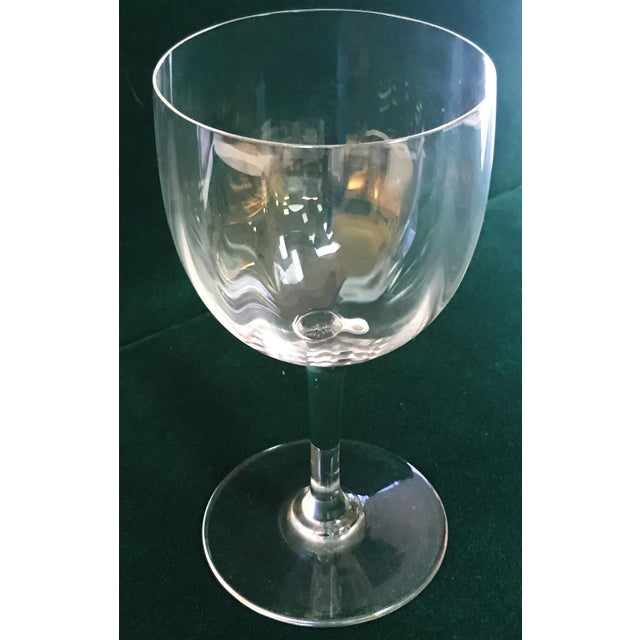 Baccarat Montaigne Optic Crystal Wine Glasses Goblets- Set of 10 For Sale - Image 11 of 13
